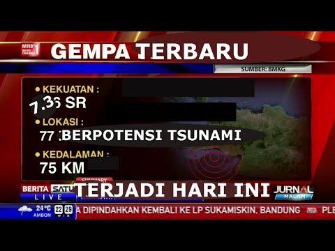 TERBARU!!! Gempa Bumi Hari Ini Berpotensi Tsunami | Sumber BMKG