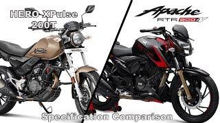 Hero XPulse 200T V/S TVS Apache RTR 200 4V