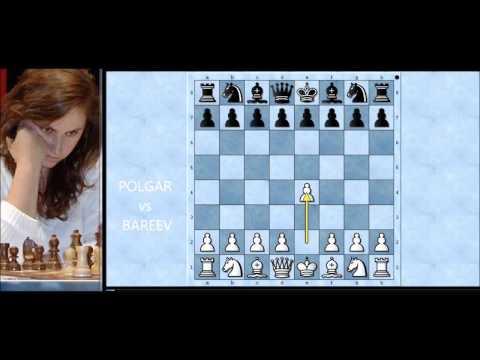 Ubojiti napad ženskog Velemajstora  - POLGAR vs BAREEV - Caro-Kann  # 1038