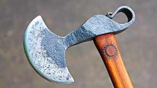 Old Shoe Hammer Re-forged in Throwing Ax