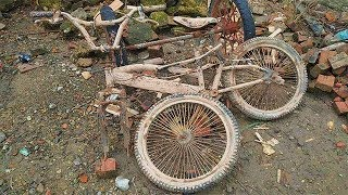 Restoration Mountain Bike Old Broken | Restore Old Rusty Baby Bicycle