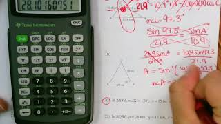 Law Of Cosines Homework Review Part 3