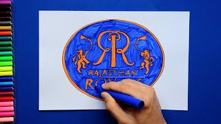 How to draw and color Rajasthan Royals Logo - IPL Team Series