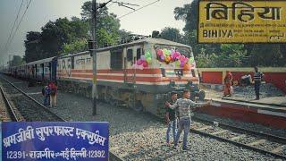 preview picture of video 'Celebration Time - BIHIYA Halt for SHRAMJEEVI EXPRESS .'