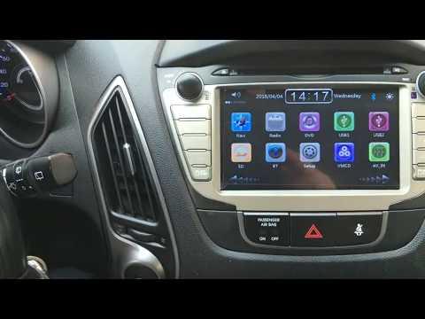 Removal  radio HYUNDAI-ix35 -GPS-DVD
