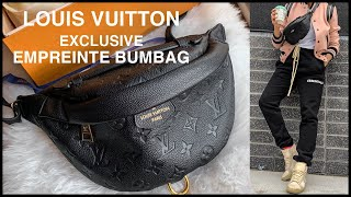 🖤LOUIS VUITTON EMPREINTE EXCLUSIVE BUMBAG | Unboxing, Pros/Cons, How To Wear, How Much Does It Fit?