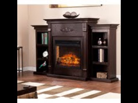 FI8545: Tennyson Infrared Electric Fireplace w/ Bookcases - Espresso