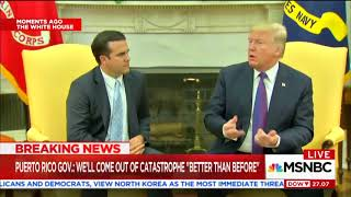 Trump asks Puerto Rican governor leading question about storm response