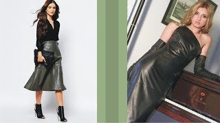 Admirable Leather Dress And Skirt For Happy Day