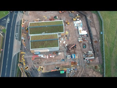 dji-spark--aerial--footage-new-build-fire-station-wirral