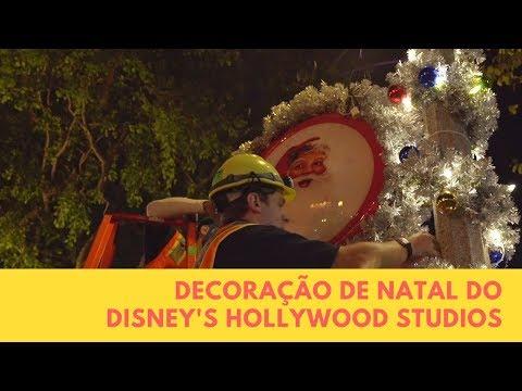 Decoração de Natal do parque Disney's Hollywood Studios