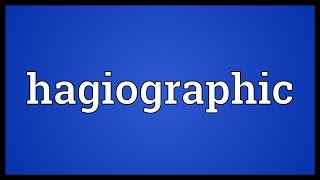 Hagiographic Meaning