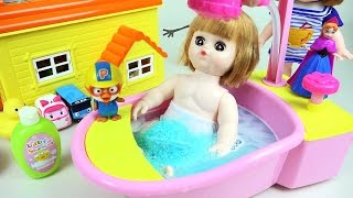 Baby doll Bath playing toy with Pororo Tayo toys