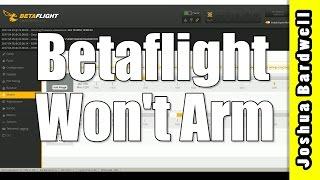 Quadcopter Won't Arm | CLEANFLIGHT BETAFLIGHT