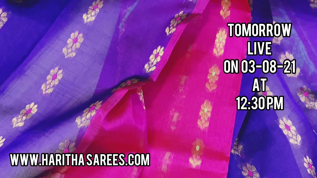 """<p style=""""color: red"""">Video : </p>Promo On Live On Pure Pattu Pochampalli Wedding Collections 2021-08-03"""