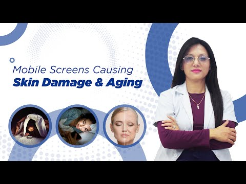 MOBILE SCREENS CAUSING SKIN DAMAGE AND AGING