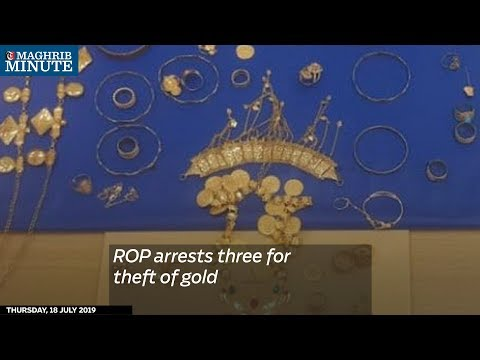 ROP arrests three for theft of gold