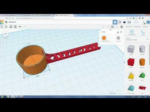 Einzigartiger Kaffeelöffel aus dem 3D Drucker (in Tinkercad erstellt)