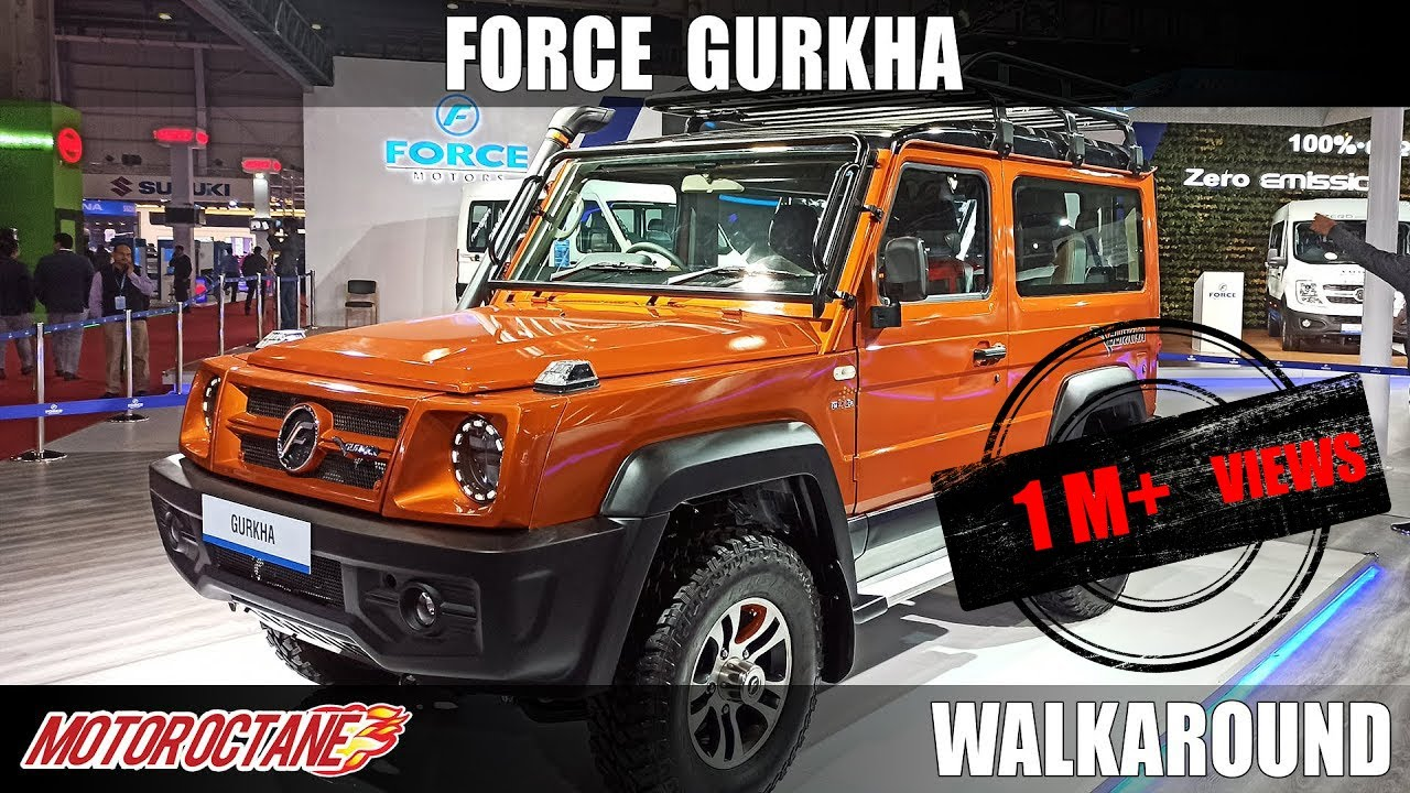 Motoroctane Youtube Video - Force Gurkha BS6 | Auto Expo 2020 | Hindi | Motoroctane
