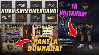 NOVO SUPERMERCADO, TENIS SWIFT, GOLA ALTA, PANELA DOURADA E MAIS NOVIDADES CHEGANDO NO FREE FIRE!