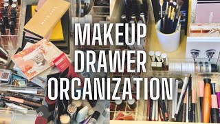ORGANIZING MY MAKEUP! MAKEUP DRAWER STORAGE AND ORGANIZATION | AFFORDABLE ACRYLIC MAKEUP ORGANIZERS