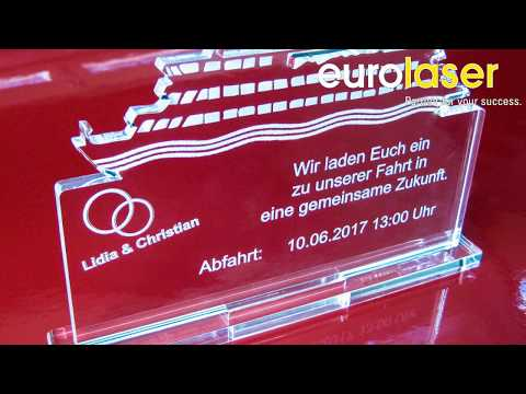 Invitation made of acrylic | Laser cutting and engraving