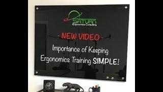 Keep Ergonomics Training Simple