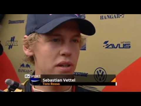 Sebastian Vettel Makes his Formula One Racing Debut at Hungary in 2007