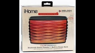 iHome Color Changing Bluetooth Stereo Speaker Review