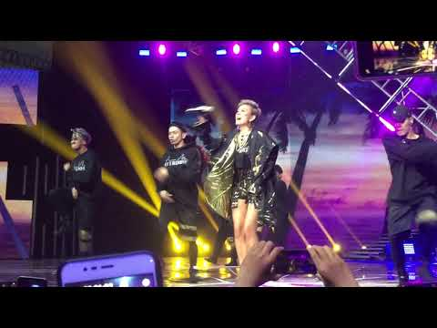 AGNEZ MO - Overdose ft. Chris Brown [SOLO] ( Live On #HUTSCTV28 ) - FANCAM