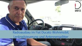 Dietz: Radioausbau im Fiat Ducato Wohnmobil. Welches Zubehör ist installiert gewesen?