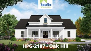 HPG-2107-1 2,107 SF, 3 Bed, 2.5 Bath Country House Plan By House Plan Gallery