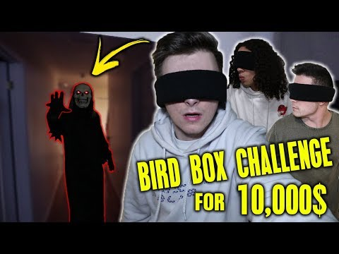 LAST PERSON TO TAKE OFF BLIND FOLD WINS 10,000$ CASH!! (BIRD BOX CHALLENGE)