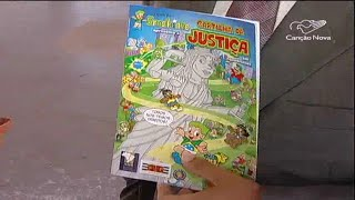 TV Canção Nova destaca o gibi Brasilzinho - Cartilha da Justiça em quadrinhos
