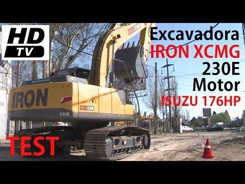 P15 - [2 de 3] - TEST Nuevas Excavadoras IRON XCMG 230E - 23 tns - Motor Isuzu
