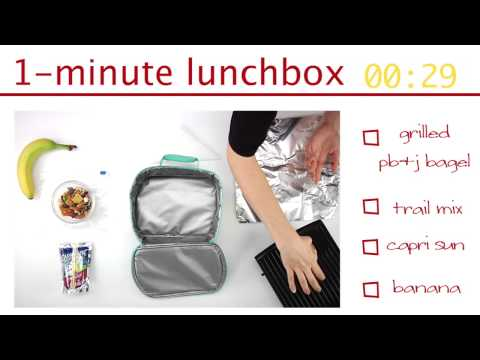 How to Pack a PB&J Bagel Lunchbox in One Minute