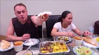 Vlog 230 ll Ăn Nguyên 1 Khây Cơm Trung Đông Có Thịt Cừu, Thịt Gà, Thịt Bò Quá Ngon Cho 1 Cuộc Tình