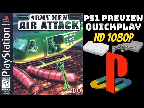 Army Men: Air Attack (PS1) GAMEPLAY/PREVIEW/QUICKPLAY NO COMMENTARY HD 1080p