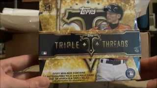 2015 Topps Triple Threads Baseball Box Break #4- MOJO!