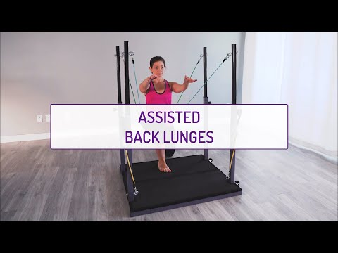 Assisted Back Lunges