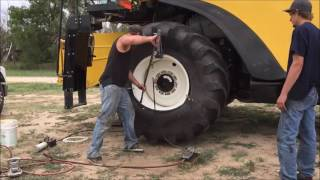 Z Crew: Changing a front combine tire