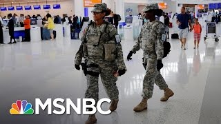Officials Worry About Terror Attacks At U.S. Airports | Andrea Mitchell | MSNBC thumbnail