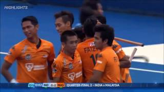 Gambar cover India 2-3 Malaysia Highlights | Quarter Final - World League Semi Final (ENG)