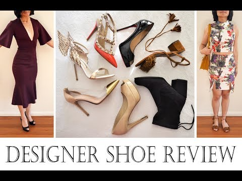 Designer Shoe Collection review – Jimmy Choo Louboutin Valentino Aquazzura Stuart Weitzman & more!!