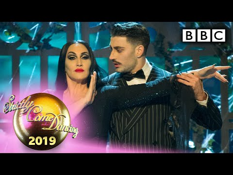 Michelle and Giovanni Foxtrot to the Addams Family theme – Halloween | BBC Strictly 2019