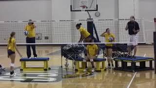 UNC Greensboro Volleyball Blocking Fundamentals
