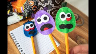 Felt Monster Pencil Toppers