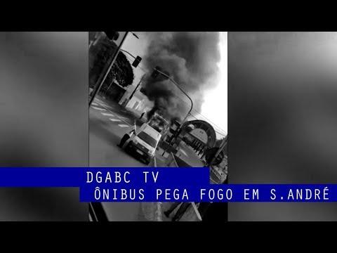 Confira vídeo enviado do ônibus pegando fogo em Santo André
