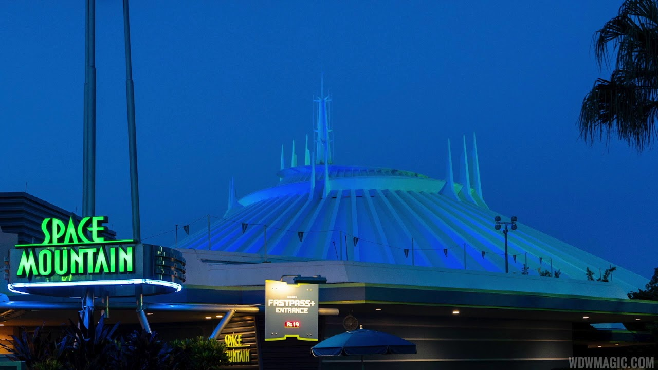 Deep Space Mountain Halloween Party ride-through