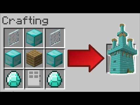 HOW TO INSTANTLY MAKE A DIAMOND HOUSE IN MINECRAFT !! Minecraft Mods